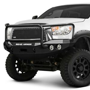 For Toyota Tacoma 05 11 Bumper Stealth Series Full Width Black Front Winch Hd