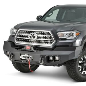 For Toyota Tacoma 16 17 Warn Ascent Full Width Black Front Winch Hd Bumper