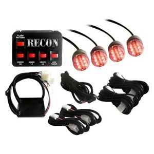 Recon 26419rd Red Led Hideaway Strobe Light Kit