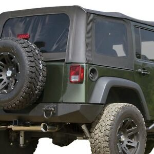 For Jeep Wrangler 2007 2009 Rugged Ridge 13771 35 Montana Black Diamond Soft Top