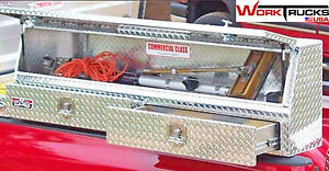 Slant Front Diamond Plate 72 Dual Level Topsider Truck Toolbox With Two Drawers