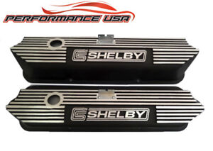 Ford 427 Shelby Black Finished Finned Aluminum Valve Cover