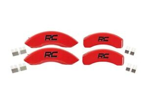 Rough Country Disc Brake Caliper Cover Set Red 12 18 Ford F 150 71120