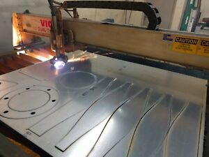 vicon Cnc 5x10 Plasma Table Used To Cut Hvac Duct Fittings