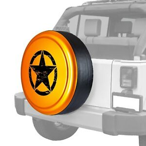 For Jeep Wrangler Jk 18 32 Tire Cover Rigid Series Mango Tango Pearl Spare Tire