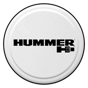 For Hummer H3 06 10 32 Rigid Series White Spare Tire Cover Hummer H3 Logo