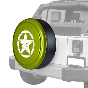 For Jeep Wrangler Jk 18 32 Tire Cover Rigid Series Rescue Green Metallic Spare