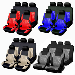 Universal Full Set Auto Seat Covers Fit For Car Truck Van Suv 5 Heads 4 Colors