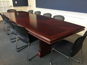 Dmi Keswick 12 Boat Top Boardroom Conference Table Top Two Pcs Cherry Finish