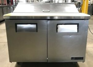 True Tssu 48 12 48 Prep Table Refrigerated Sandwich Salad 2 Two Door Commercial