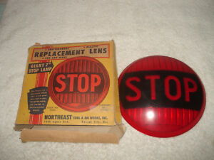 Vintage Plastic Stop Replacement Lens Lamp 7 Unused Boxed Nos