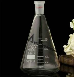 50 2000ml Quickfit Ground Joint Conical Flask Erlenmeyer Lab Glassware