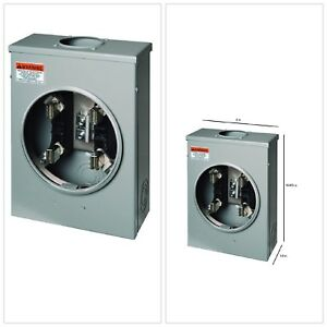 Meter Sockets 125 Amp Ring type Overhead Underground Electric Ringtype Surface