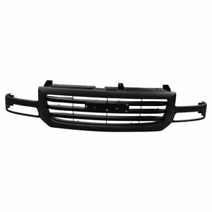 Grille Assembly Textured Gray For 03 07 Gmc Sierra 1500 Pickup Truck New