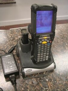 Symbol Mc9090 Wireless Barcode Scanner W Crd9000 1001s Charging Cradle