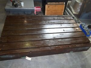 T Slot Table 41 X 64 5 Fixture Plate Set Up Jig Welding Straightening Hold Down