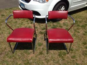 Pair Of Art Deco Streamlined Chairs Gilbert Rohde For Troy Sunshade Co Mcm