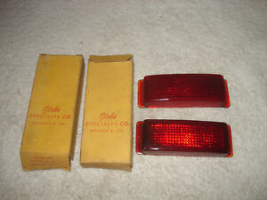 Vintage 1941 Ford V8 48 54 Truck Glass Stop Tail Lamp Lens Replacement Part Nos