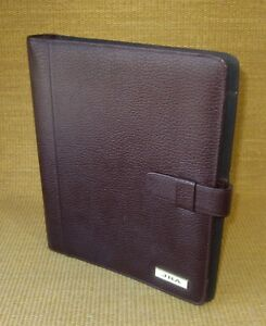 Monarch folio 1 Rings Burgundy Pebbled Leather Day timer Planner binder