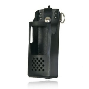 Boston Leather 5700rc 1 Firefighter s Radio Holder Fits Ef Johnson 5100es Black