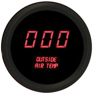 Intellitronix M9123r 2 1 16 Led Digital Outside Air Temperature Gauge 50 To 250