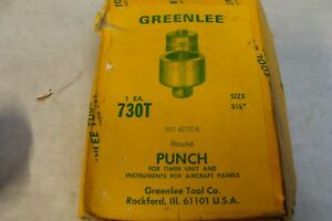 Rare Greenlee 3 1 8 Knockout Punch 730t New Never Used