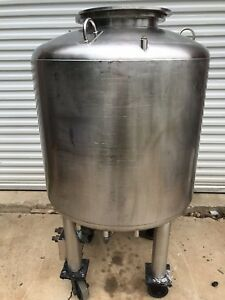 100 Gallon Stainless Steel Jacketed Fermentation Processing Tank W Internal Pres