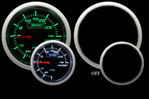 Mechanical Boost Gauge Green And White 52mm 2 1 16 30vac To 30 Psi Range