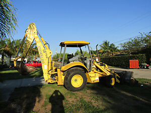 New Holland Loader Backhoe Lb 75b 2400 Original Hrs