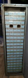 Vintage Blueprint Holder Cabinet 54 H X 40 D X 16 W