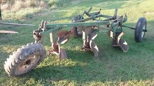 Oliver 3 Bottom Trailer Plow Farmall John Deere International Allis Chalmers Bt