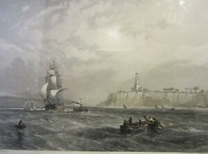 Collectable An Antique Port Phillip Heads Print 1873