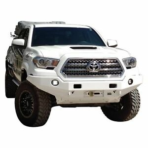 For Toyota Tacoma 16 17 Rock Crawler Full Width Black Front Winch Hd Bumper