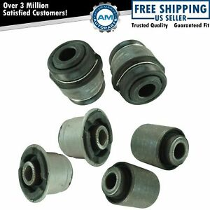 Rear Knuckle Bushings 6 Piece Set Diver Passenger Side For Cadillac Cts New
