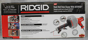 Ridgid Hand held Drain Cleaner With Autofeed Model K 45af nib