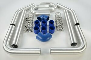 2 5 Fmic Inter Cooler Piping Kit Mandrel Aluminum Bends Couplers Clamps Blue