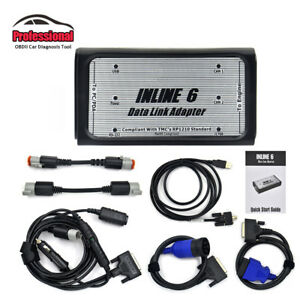 Inline 6 Data Link Adapter Heavy Duty Diagnostic Scan Tool With Full Cables