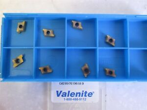 Lot Of 8 Valenite Carbide Inserts Ap 070204 Er11 Vp5040 New