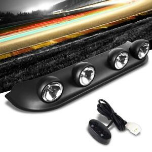 Roof Top Mount Fog Light Lamp Bar Black Bezel Clear Lens Fit Offroad Truck Suv