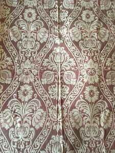 Absolutely Beautiful Important 19th C French Cotton Woven Damask 2443
