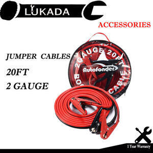 2 Gauge Battery Jumper Cables 800amp Booster Cable Emergency Car Truck 20 Ft