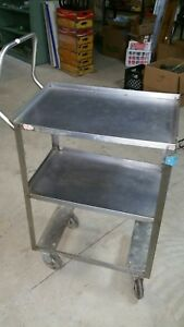Lakeside Stainless Steel Utility Cart material Handler roll industrial Steampunk