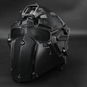 Outdoor Tactical Helmet Mask+Goggles Airsoft Paintball CF CS Game