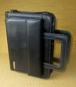 Classic 1 5 Rings Black Sim Leather Franklin Covey Planner binder Handles