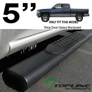 Topline For 1998 2002 Dodge Ram Qaud Cab 5 Oval Side Step Nerf Bars Matte Blk