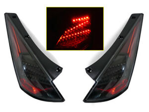 Depo Black Led Tail Lights Pair Fit For 2003 2004 2005 Nissan 350z Z33 Z New