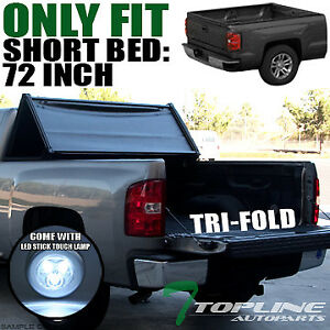 Topline For 1994 2003 Chevy S10 Sonoma 6 Ft Bed Tri Fold Soft Tonneau Cover Led