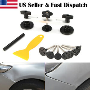 Car Trunk Auto Body Dent Ding Remover Repair Puller Handle Tool W 28 Suckers Us