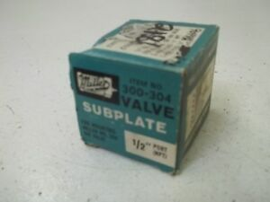 Miller 300 304 1 2 Npt Valve Subplate new In Box