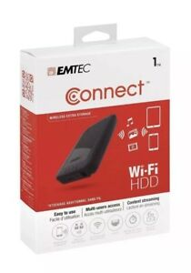 Emtec P700 Series 1tb Usb 3 0 Wifi hdd echdd1000p700 Black New